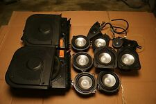 BMW E60 E61 E63 E64 6 SERIES COMPLETE SET OF LOGIC 7 SPEAKERS / SUBWOOFERS