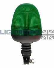 Flexible DIN Pole Mount Digger Plant Rotating Flashing Green LED Strobe Beacon