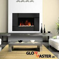 ELECTRIC WALL MOUNTED MIRROR GLASS FIREPLACE STYLISH FLICKER FLAME HEATER LIVING