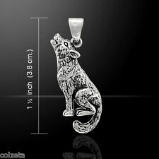 THE LONE WOLF SOLID .925 Sterling silver PENDANT by Peter Stone