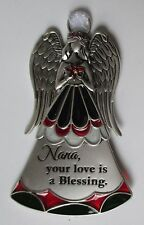 RD Nana Love blessing Stained glass look Nativity ANGEL Christmas ORNAMENT Ganz