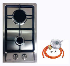 Domino-S 30cm Built-in Gas hob 2 burner Cooktop Stainless steel LPG FFD NEW