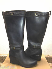 UGG IRMAH STOUT WATER / SNOW PROOF LEATHER WEDGE BOOTS US 7 / EU 38 / UK 5.5