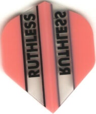 PINK/CLEAR RUTHLESS Dart Flights: 3 per set