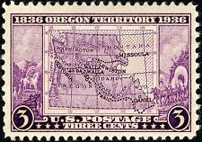 MAGNET US Postage Stamp PHOTO MAGNET Oregon Territory 1836-1936 Issue 3cents