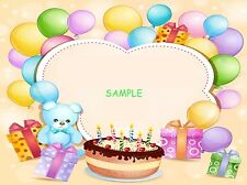 Happy Birthday Baby Babies Edible Cake Image Topper Frosting Icing 1/4 Sheet