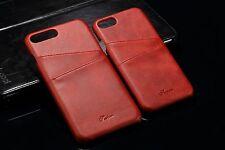Appel iPhone 7 Schutzhülle Farbe  Rot  Leder Luxus 1 Case Cover Deutschland ����