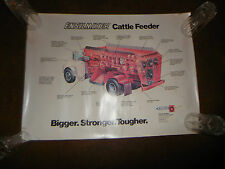 "Original Butler Ensilmixer Cattle Feeder Sales Poster 21"" X 28"" NOS Very Rare"
