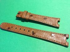 Genuine Ladies Tan Ostrich Watch Strap 16mm - made to fit Tissot Rockwatch