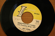 CHRIS KENNER **MEMORIES OF A KING** (PT. 1&2) New Orleans Soul 45 on NSTANT 3290