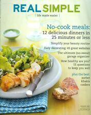 2007 Real Simple Magazine: No-Cook Meals/Simple Beauty Routines/Garage Organizer