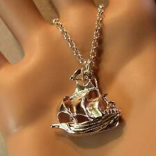 new sterling silver spanish galleon pendant & chain