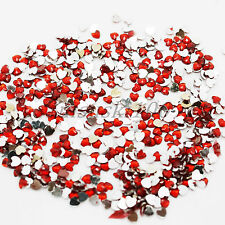 1000 Hearts Rhinestones Acrylic Gems Flat silver back Nail Art Craft Cards Beads