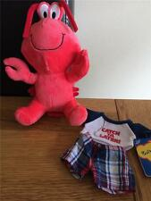 BUILD A BEAR FACTORY RARE & HTF SMALLFRYS/BUDDIES LOBSTER & OUTFIT NEW