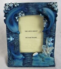 Dolphin  Picture Frame Blue 3D Ocean Under the Sea Free Standing 4 x 6 Portait