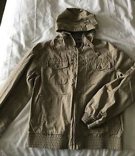 Burton men's Lined Cotton Jacket With Hood Size L Chest 41-44 Inches