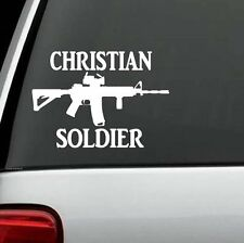 Christian Soldier AK47 M16 M4 DECAL STICKER TRUCK WINDOW CAR WALL LAPTOP SALT