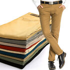 Men's Summer Slim Fit Trousers Casual Thin DP Office Pants 10 Colors All Size