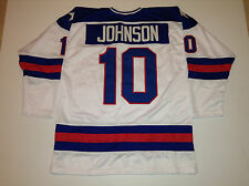 Mark Johnson 1980 Miracle On Ice USA Hockey White CUSTOM Jersey Size 2XL