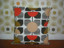 Handmade 16 X 16 cushion cover using orla kiely bedding fabric in SQUARE FLOWER