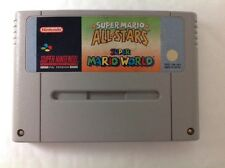 Super Mario World and All Stars Allstars SNES Super Nintendo S44