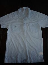 Full Circle blue short sleeved polo t-shirt, cotton. Size S