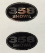 HONDA MT250 ELSINORE SHOWA REAR SHOCK ABSORBER DECALS X 2