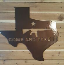 "COME AND TAKE IT AR15 SIGN- 24"" Hand Made in Waco Texas"