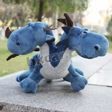 Stuffed Animals Soft Toys Blue Double head Dinosaur Plush 35 CM Christmas Gift