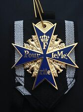 MUSEUM QUALITY WWI GOLD PLATED GERMAN BLUE POUR LE MERITE MILITARY MEDAL