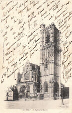 CLAMECY l'église saint-martin photo-éd desvignes timbre rouge 10 cent. 1902