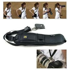 Black Quick Rapid Shoulder Sling Belt Neck Strap For Camera SLR DSLR UK