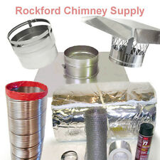 """6"""" x 15' Chimney Liner Insert Kit .006 316 Stainless Steel with 1/2"""" Insulation"""