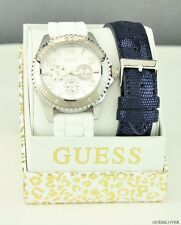 NWT Ladies 2 in 1 Watch GUESS Rubber Leather New U0422L1