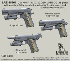 Live Resin 1/35 LRE-35261 Colt M45A1 M1070CQBP MARSOC .45 Pistol (2)