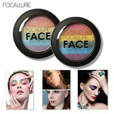 Focallure  Rainbow Highlight Eyeshadow palette Baked Blush Face Shimmer Coloro