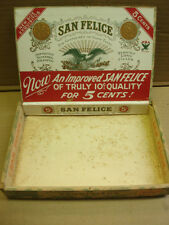 1900's San Felice 5 cent wooden Cigar box Exquisitos Deisel Wemmel Gilbert