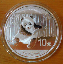 auction China 2014 panda 1oz silver coin S10Y