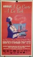 "Original ABSOLUT A LA CARTE A LA PARK 97 poster San Francisco event chef 14""x24"""