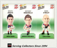 2008 Select NRL Color Figurine Collectable Trading CARDS team Set Roosters (3)
