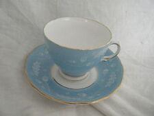 C4 Porcelain Colclough Oak Leaves & Acorns Blue Cup & Saucer 14x7cm 5C7A