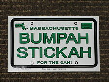 "NEW MASSACHUSETTS BUMPAH STICKAH-FOR THE CAH-5 3/4""x3 1/8""-POSTCARD TOO !"