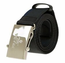 NEW PRADA MEN'S GRAY BLUE SAFFIANO LEATHER CANVAS LOGO BUCKLE BELT 85/34
