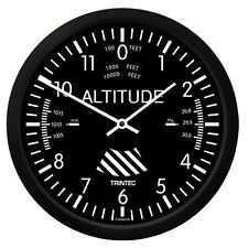 "New Trintec 10"" Classic Altimeter Wall Clock 9060-10 - A Great Aviation Gift"