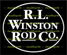 R. I. Winston Rod Co. - Outdoor Sports - Vinyl Die-Cut Peel N' Stick Decals