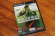 Metal Gear Solid 3: Subsistence (Sony PlayStation 2, 2006) Complete Tested