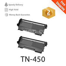 2 NEW TN450 GENERIC HIGH YIELD TONER FOR BROTHER  HL-2280DW MFC-7860 MFC-7460DN