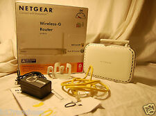 Netgear Wireless G Router WGR614v10 10/100 LAN Ports 4 WAN Port 1 Original Box