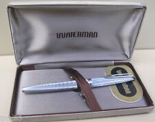 STYLO WATERMAN CF PLUME OR BLANC 18K ANCIEN COLLECTION VERS 1950/60