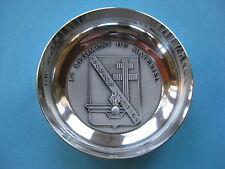 coupelle en métal argenté : 1 er régiment du matériel